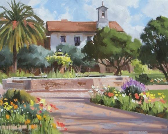 landscape oil painting California San Juan Capistrano