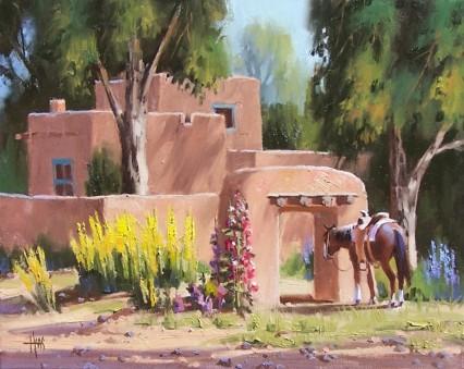 genre oil painting