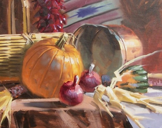 "still life Pumpkin Soup 16"" x 20"" oil painting by Tom Haas"