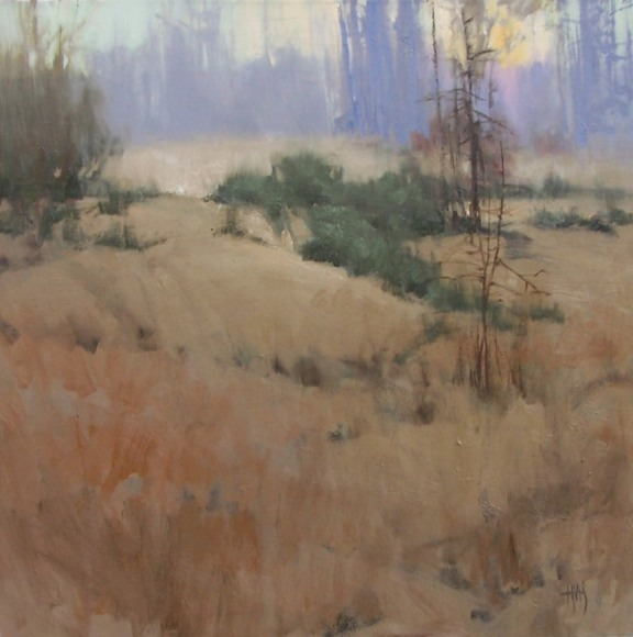 """landscape Solitude 30"""" x 30"""" oil painting by Tom Haas"""