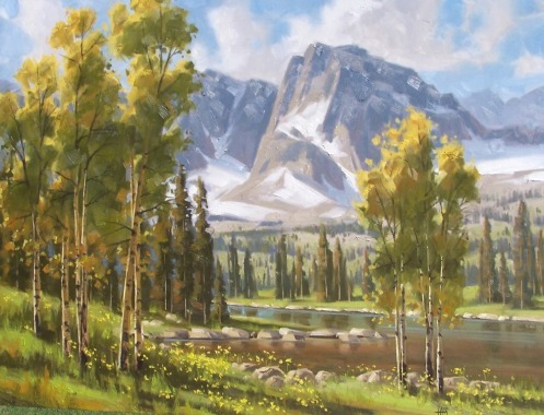 """landscape Summer Solitude 30"""" x 40"""" oil painting by Tom Haas"""