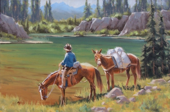 """Paradise Valley 24"""" x 36"""" oil painting by Tom Haas"""