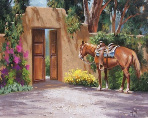 """Rest Stop 16"""" x 20"""" oil painting by Tom Haas"""