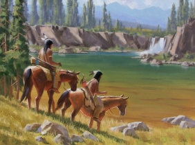 "Scouting the Valley 30"" x 40"" oil painting by Tom Haas"