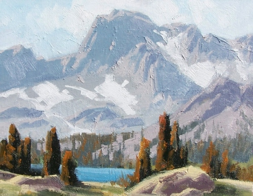 """Alpine Ridge - Ouray, Colorado 11"""" x 14"""" oil painting by Tom Haas"""