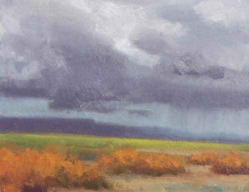 "Plateau Storm - Vermillion Cliffs, Arizona 11"" x 14"" oil painting by Tom Haas"