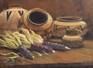 "Ancient Vessels 36"" x 48"" oil painting by Tom Haas"