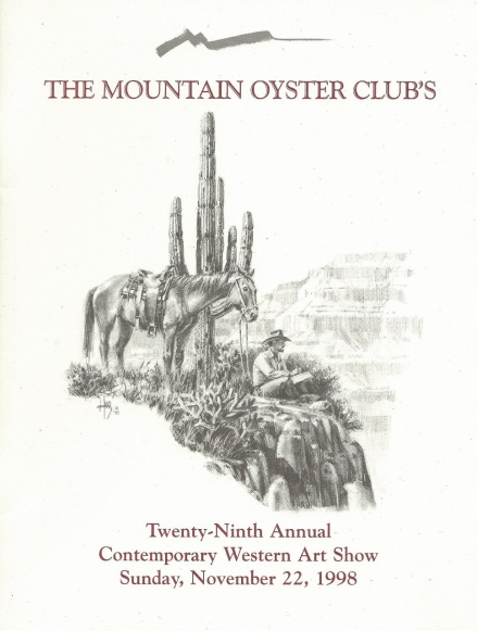 Mountain Oyster Club's 1998 Show Catalog - Drawing by Tom Haas