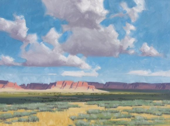 """landscape Navajo Country 30"""" x 40"""" oil painting by Tom Haas"""