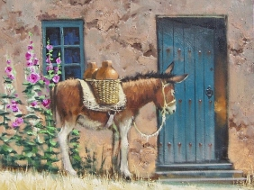 """Patience 16"""" x 30"""" oil painting by Tom Haas"""