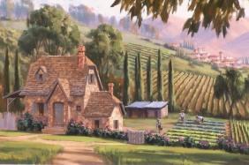 """Simple Pleasures 24"""" x 36"""" oil painting by Tom Haas"""