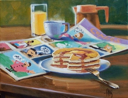 "Sunday Morning 11"" x 14"" oil painting by Tom Haas"