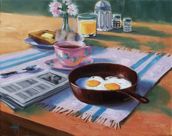 "Sunny Side Up 20"" x 24"" oil painting by Tom Haas"