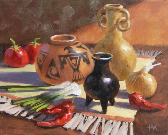 "still life Oooh Caliente 16"" x 20"" oil painting by Tom Haas"