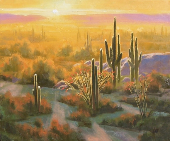 "Desert 20"" x 24"" oil painting by Tom Haas"