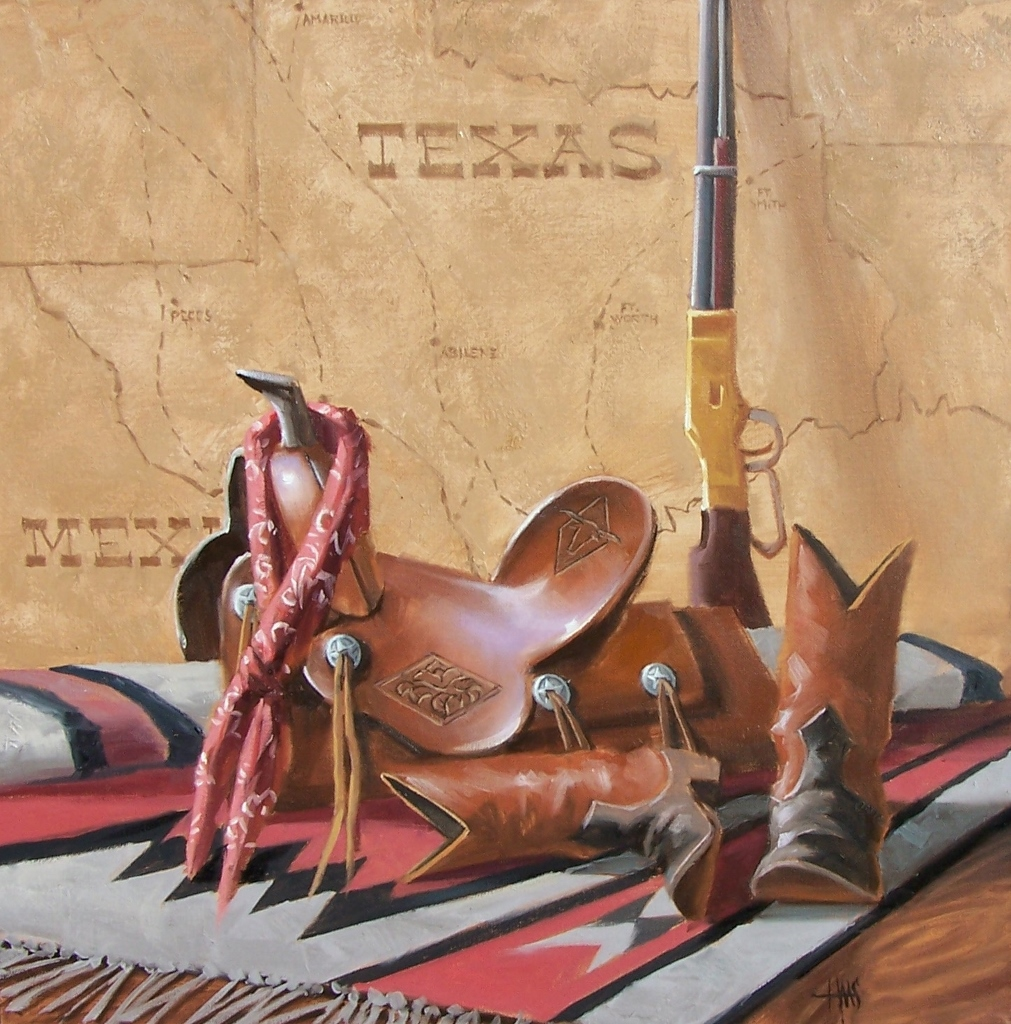 """Lone Star 24"""" x 24"""" oil painting by Tom Haas"""