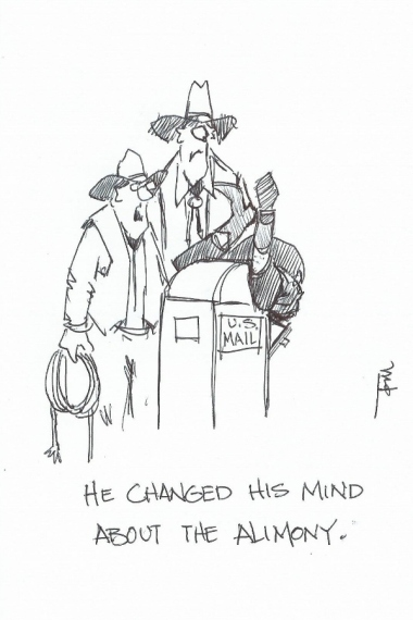 He Changed His Mind 2015 cartoon drawing by Tom Haas