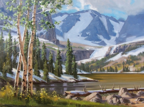 """Summer Retreat 36"""" x 48"""" oil painting by Tom Haas"""