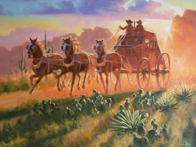 """Trail Dust 24"""" x 30"""" oil painting by Tom Haas"""