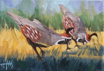 "Dinner Conversation 5"" x 7"" oil painting by Tom Haas"