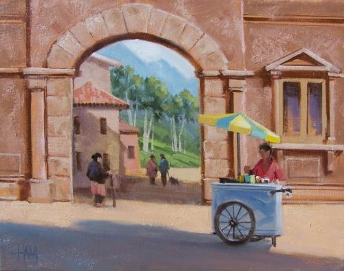 "Gelato 11"" x 14"" oil painting by Tom Haas"