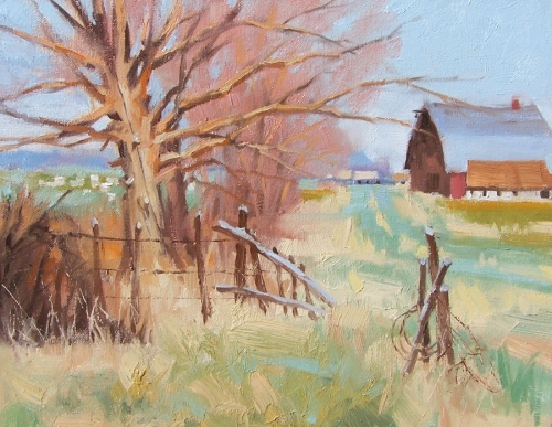 "Old Farm Road 11"" x 14"" oil painting by Tom Haas"