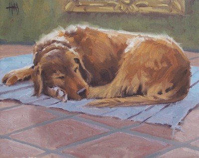 "Sam Old Boy 11"" x 14"" oil painting by Tom Haas"