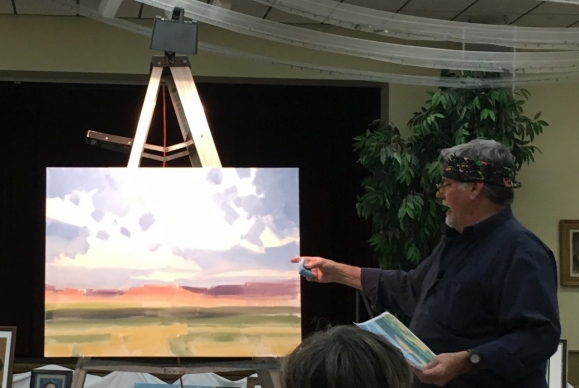 Tom Haas guest artist demonstration for Scottsdale Artist League (photo by Cristina Scotti 2016)