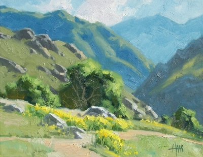 "Canyon Spring 11"" x 14"" oil painting by Tom Haas"