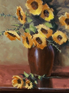 "Sunny Disposition 24"" x 18"" oil painting by Tom Haas"