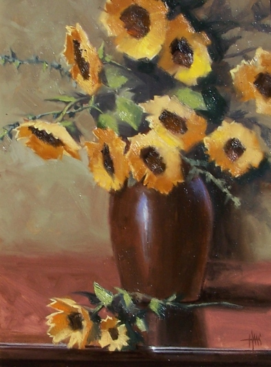 """Sunny Disposition 24"""" x 18"""" oil painting by Tom Haas"""