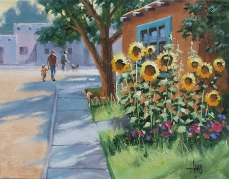 "A Sunny Greeting 11"" x 14"" oil painting by Tom Haas"