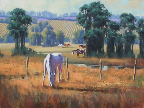 "American Heartland 20"" x 24"" oil painting by Tom Haas"
