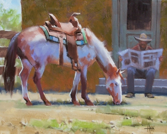 """A Day Off 16"""" x 20"""" oil painting by Tom Haas"""