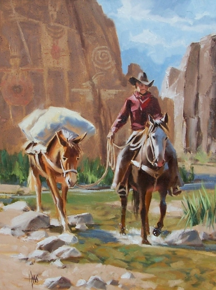 """Echo Canyon 24"""" x 18"""" oil painting by Tom Haas"""