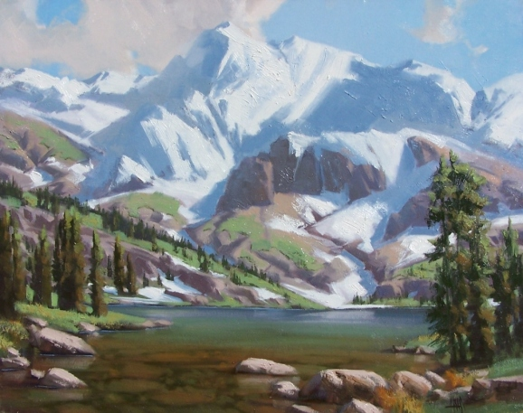 """Emerald Lake 24"""" x 30"""" oil painting by Tom Haas"""