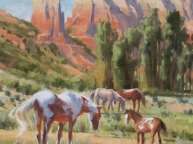 "Canyon Family 24"" x 18"" oil painting by Tom Haas"