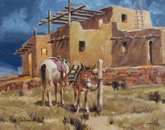 """Santa Fe 16"""" x 20"""" oil painting by Tom Haas"""
