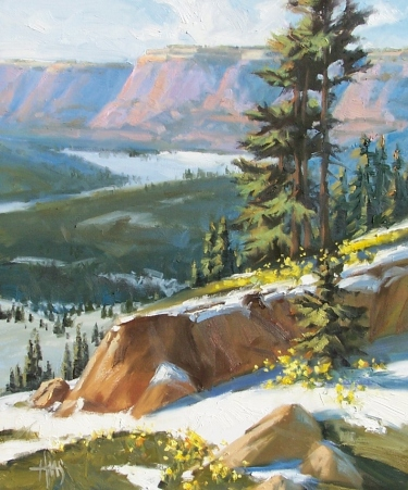 """Flagstaff 24"""" x 20"""" oil painting by Tom Haas"""