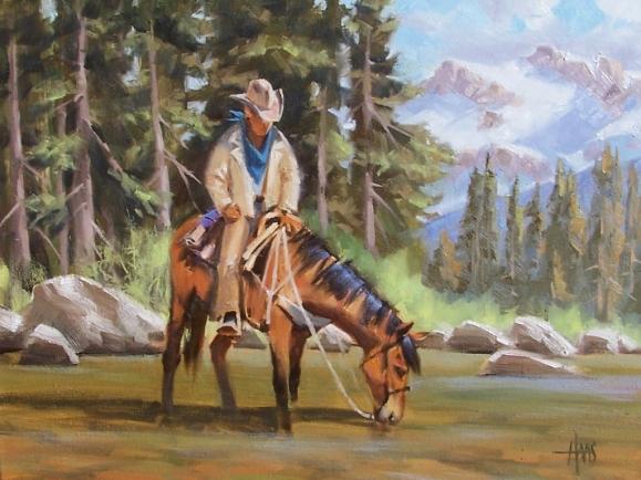 "Free Range 18"" x 24"" oil painting by Tom Haas"
