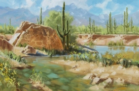 "Clear Creek 24"" x 36"" oil painting by Tom Haas"