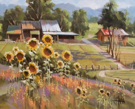 "Sunnyside 16"" x 20"" oil painting by Tom Haas"