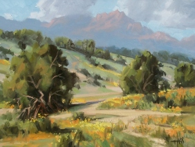 "Yarnell, Arizona 18"" x 24"" oil painting by Tom Haas"