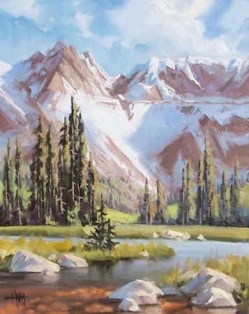 "105 in Scottsdale 20"" x 16"" oil painting by Tom Haas"