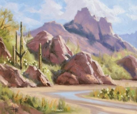 "Brief Desert Spring 20"" x 24"" oil painting by Tom Haas"