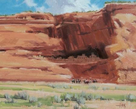 "Canyon Life - Canyon de Chelly, Arizona 16"" x 20"" oil painting by Tom Haas"