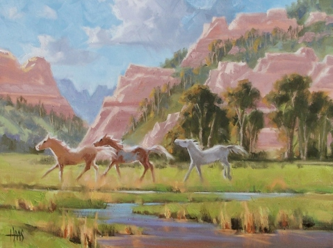 "Canyon Mares - Marble Canyon 18"" x 24"" oil painting by Tom Haas"