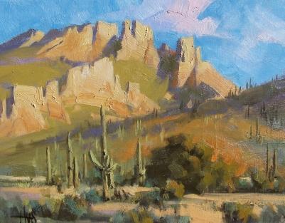 """Granite Castle 11"""" x 14"""" oil painting by Tom Haas"""