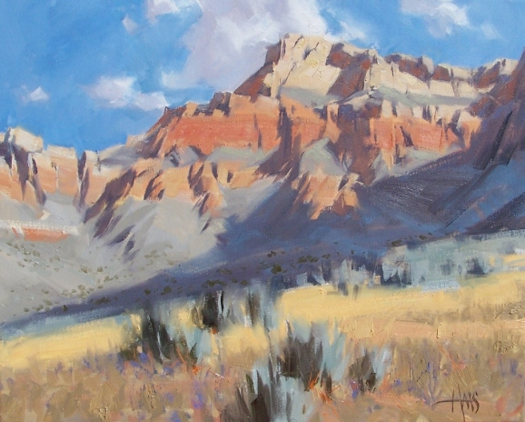 """Kaibab Trail - Grand Canyon 16"""" x 20"""" oil painting by Tom Haas"""