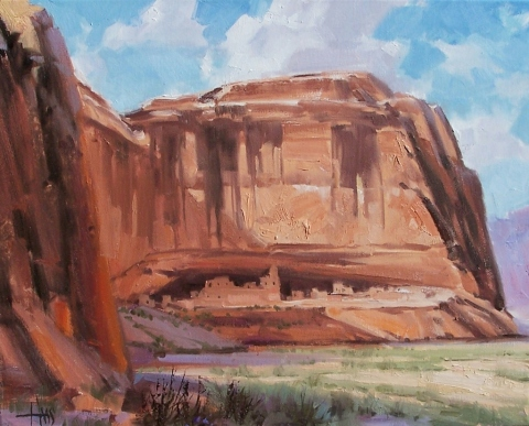"""Secluded Canyon - Canyon de Chelly, Arizona 16"""" x 20"""" oil painting by Tom Haas"""
